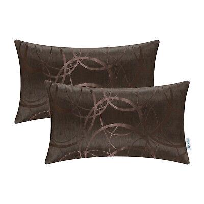 2pcs Coffee Cushion Cover Bolster Pillow Shell Circle Ring Geometric Sofa 12x20 Ebay