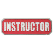 PVC Morale Patch - MAXPEDITION - INSTRUCTOR - RED / WHITE - Hook & Loop