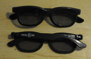 LOT-OF-20-NEW-POLARIZED-RealD-3D-Glasses-Black-For-TV-Real-D-3D-Cinemas