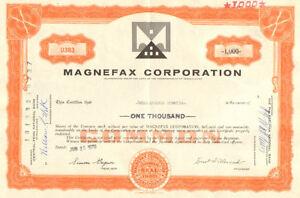 Magnefax-Corporation-gt-1970s-Pennsylvania-stock-share-certificate