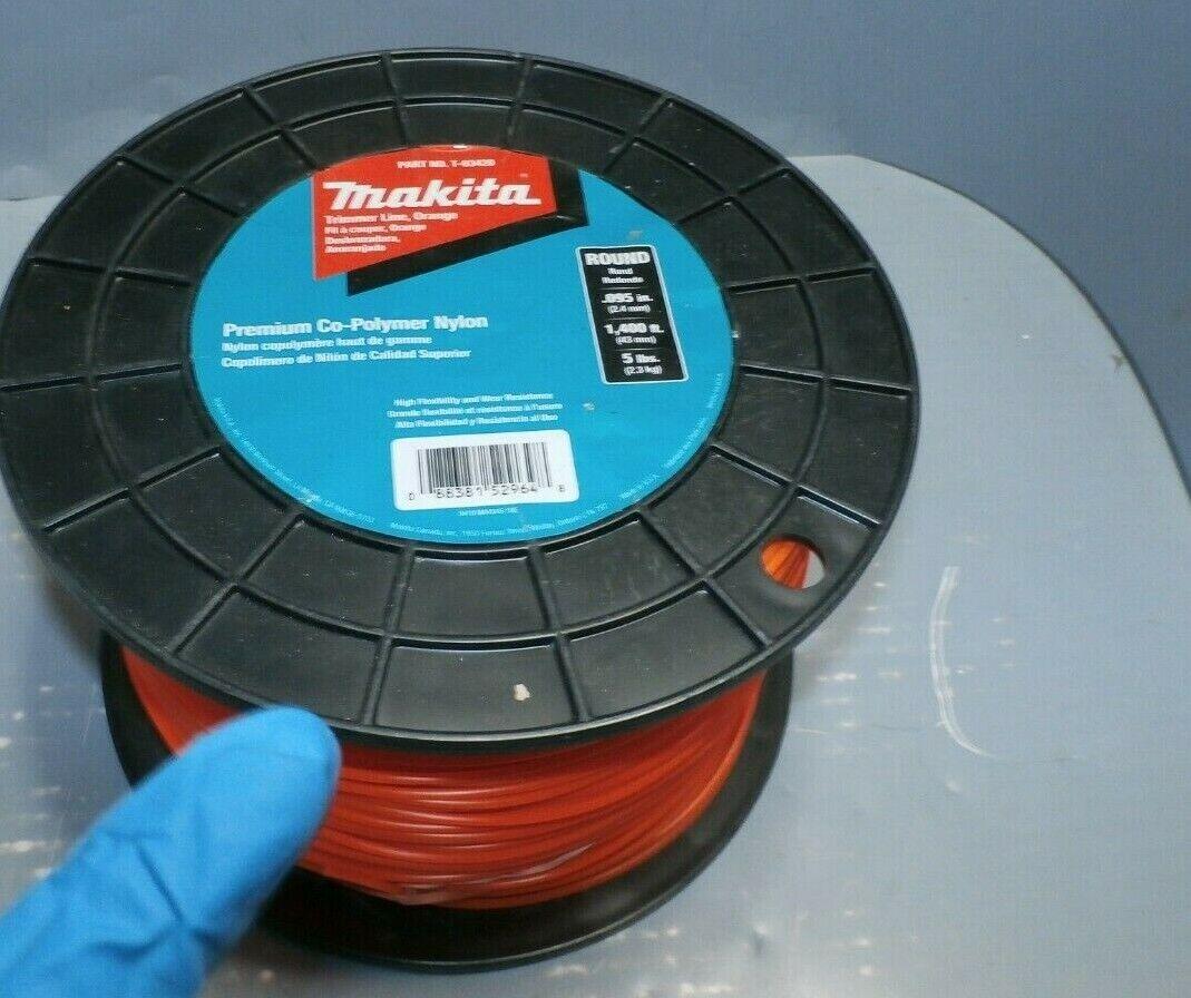 Nueva línea recortadora rojoondo Makita T-03420, 0.095 , naranja, 1,400', 5 libras