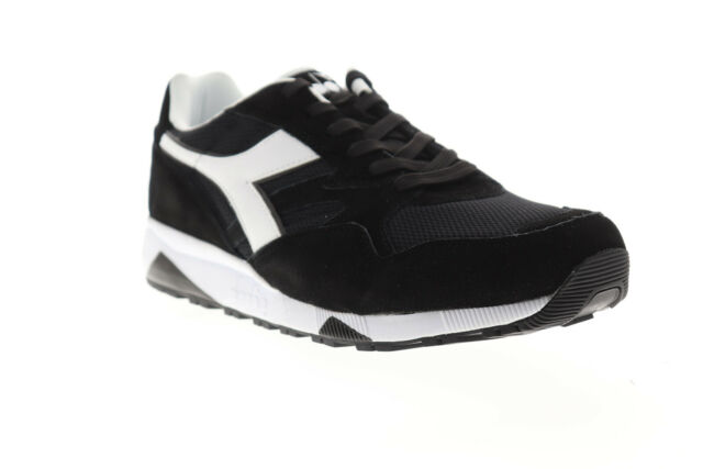 1bc4feaa Diadora N902 S Mens Black Suede & Mesh Athletic Lace Up Running Shoes