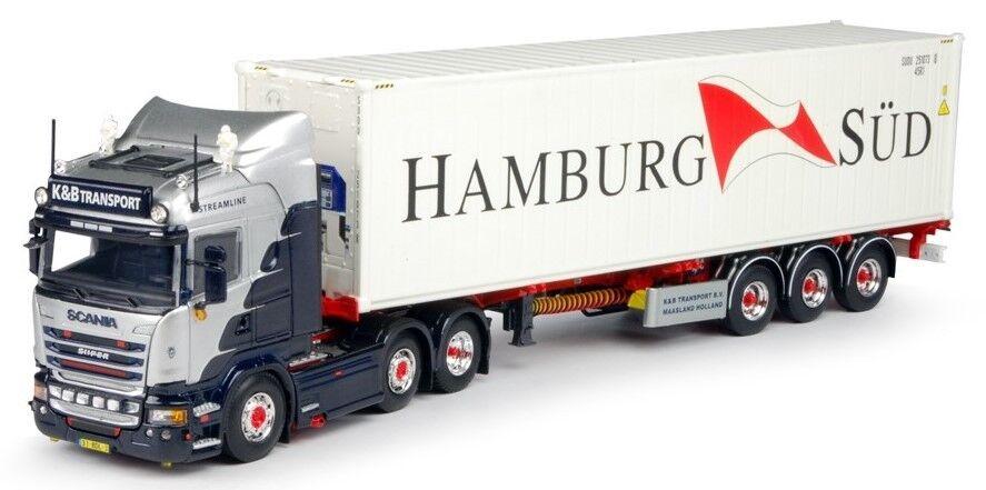 Tek67460-scania r  highline 3 axles with trailer fridge door container 40 ft  en ligne pas cher