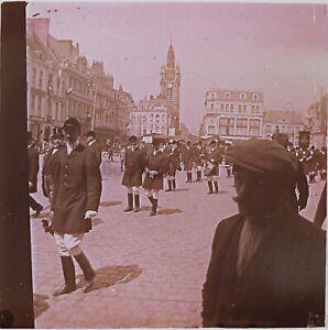 Francia Ville A Identify Il Foto Stereo PL46Th1n12 Placca Da Lente Vintage C1925