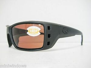 3b3a9505b3 new Costa Del Mar PERMIT Sunglasses Blackout   Copper Polarized 580P ...