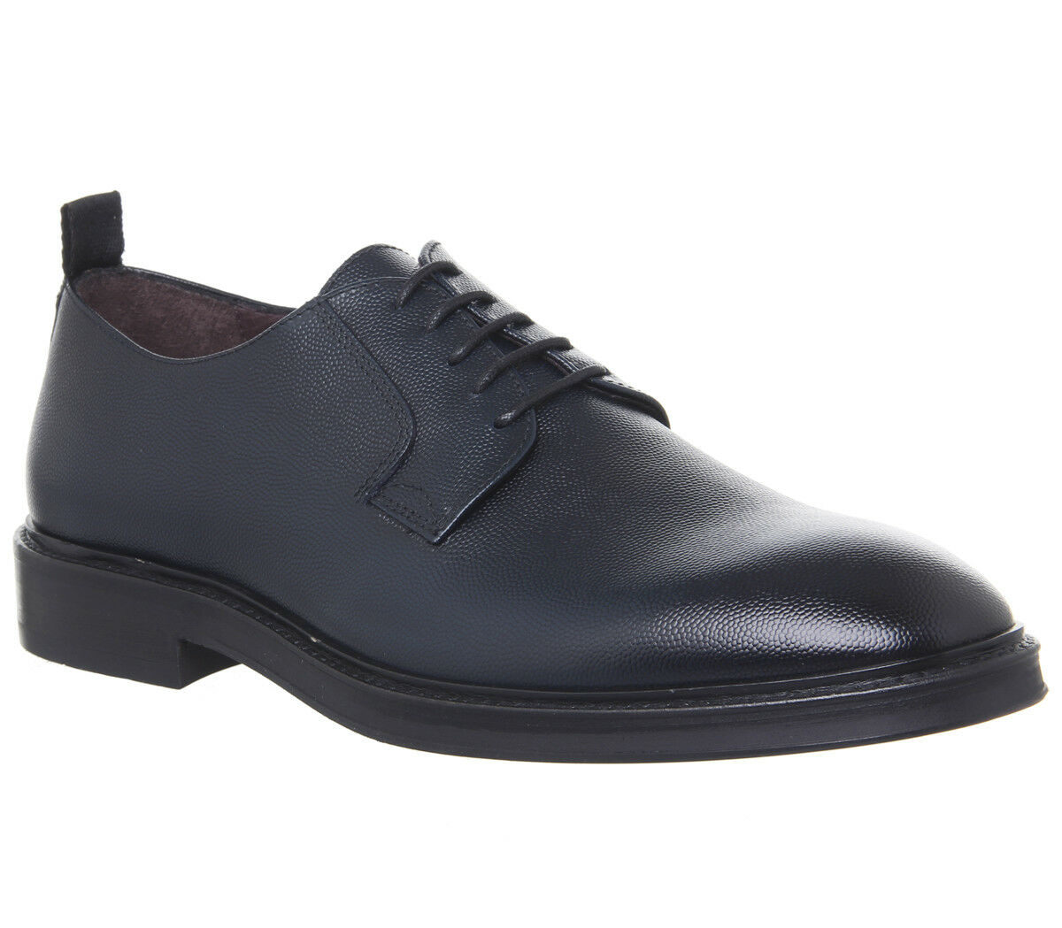Mens Poste Idris Derby shoes Dark Navy Leather Formal shoes