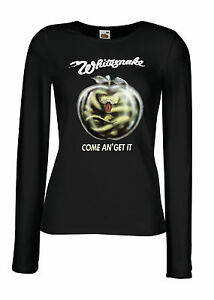 Cógelo Camiseta Banda Tee Ver Larga Rock Whitesnake Mujer Dama Detalles Ven Y Negra Original De Manga Título 54RLAj