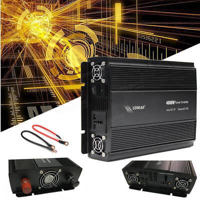 4000W Modified Sine Wave Power Inverter DC12V to AC110V220V Converter