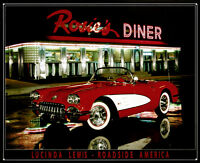 Rosie's Diner Tin Sign By Lucinda Lewis - 16x12.5