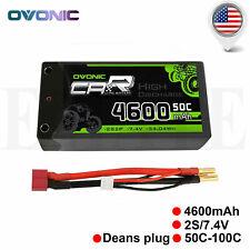 Ovonic 4600mah 7.4v 50c Hardcase 2s Lipo Battery Deans Plug for Car Truck Buggy