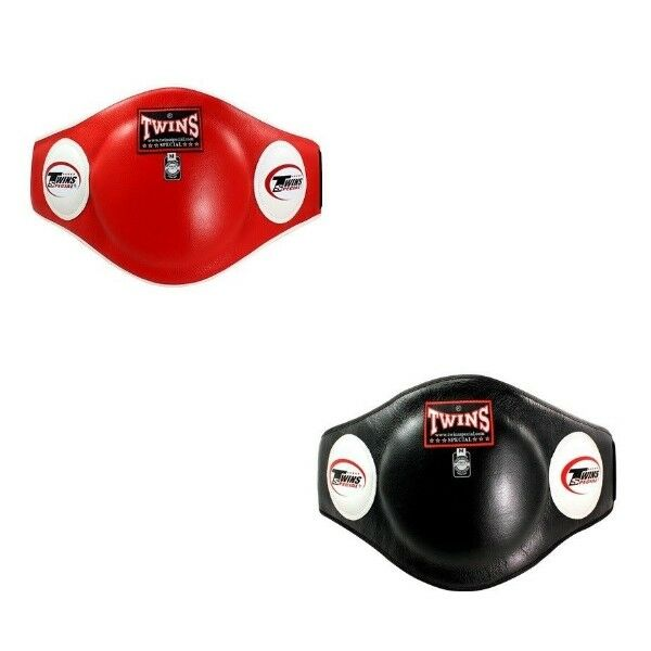 TWINS SPECIAL BEPL 2 TRAINER PredECTOR BELLY PADS BURGUNDY LEATHER MMA K1
