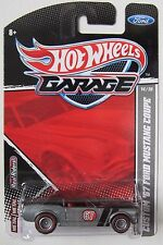 HOT WHEELS GARAGE CUSTOM '67 FORD MUSTANG COUPE RLT #14/20 REAL RIDER TIRES