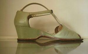 Christian Boutique Femmes Compenses Escarpins Bout Ouvert True Vintage Sandales Made Italy-afficher Le Titre D'origine Beau Travail