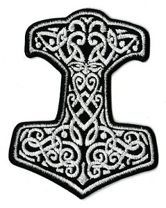 Badge Patch Patch Mjolnir Hammer Thor Viking Fusible Vikings