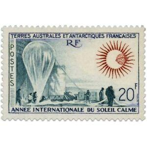 TAAF N°21 ANNÉE INTENATIONALE DU SOLEIL CALME, TIMBRE NEUF DE 1963