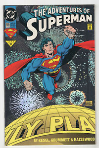Adventures-of-Superman-505-Oct-1993-DC-Holo-Foil-Cover-Kesel-Tom-Grummet