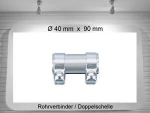 2 Auspuff Flexrohr Schellen Rohrverbinder Rohrschellen Bügelschellen M8 x Ø 48mm