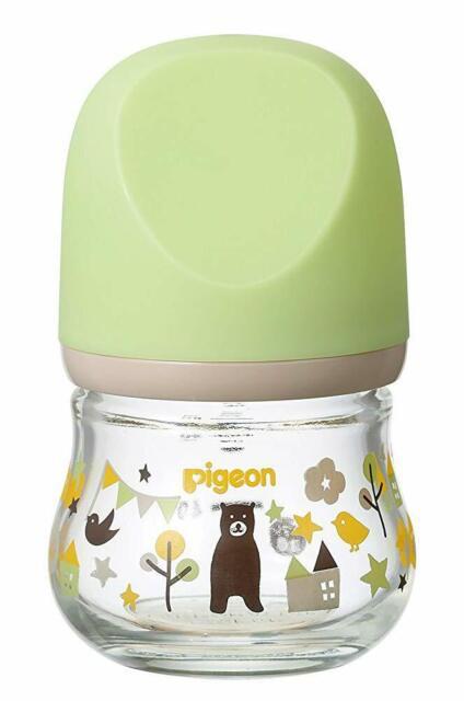Pigeon Breastfeeding Baby Bottle Heat-resistant Glass Bear ...