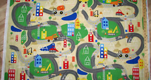 Details about Detour Ahead Playmat Constuction Dump Truck Road Map Fabric  24\