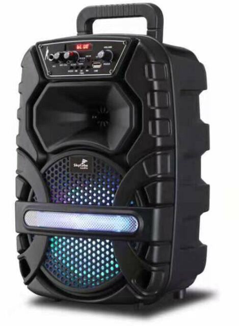 Bluetooth Speaker SkyCube 6000watts P.m.p.o  Microphone Rechargeable Remote Fm
