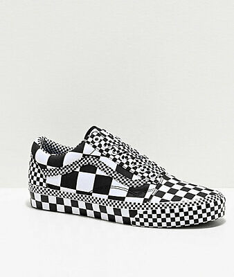 Vans Old Skool All Over Checkerboard Checker Crazy Black White New Mens |  eBay