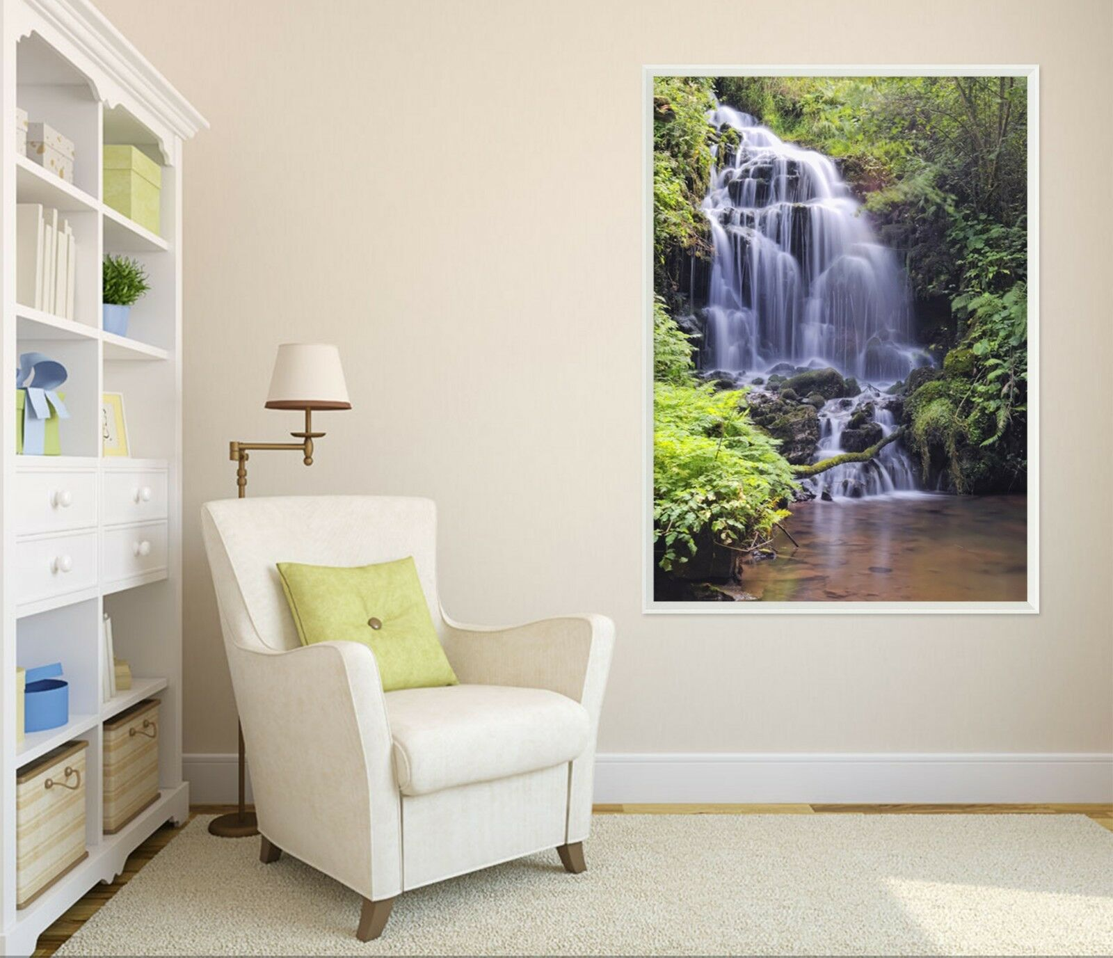 3D Spectacular Waterfall 511 Framed Poster Home Decor Print Painting Art AJ AU