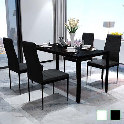 vidaXL Set Tavolo da Pranzo e Sedie Cucina Sala 5 pz Nero ...
