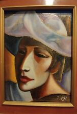 "1960's Antonio Diego Voci (Italian, 1920-1985) Oil painting ""Petit pierrot"""