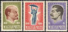 Hungary 1947 Lenin/Stalin/Politics/People/Russian Revolution 3v set (n45357)