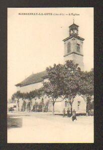MARSANNAY-LA-COTE-21-Attelage-VILLA-amp-EGLISE-tres-animee-en-1917