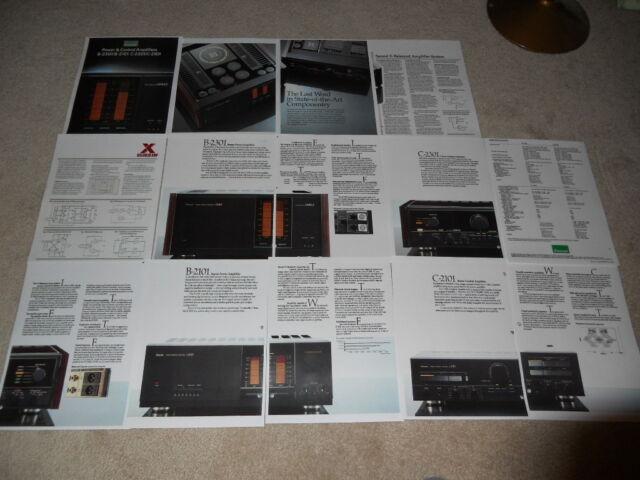 Sansui High End 1980 Brochure, B-2301,B-2101 Amplifiers, C-2301, C-2101 Preamps