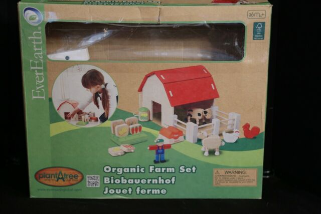 Ever Earth Wooden Organic Farm Play Toy Set