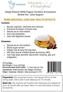 Details about Simply Natural 100% Organic Turmeric Cinnamon Herbal Tea, 30  Tea Bags Joint