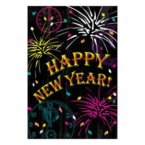 Happy New Year Celebration Fireworks Garden Flag 30x45cm ...