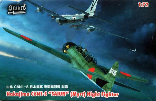 SWORD 1//72 C6N1-S Saiun Night-Fighter 2in1 kit OOP Myrt