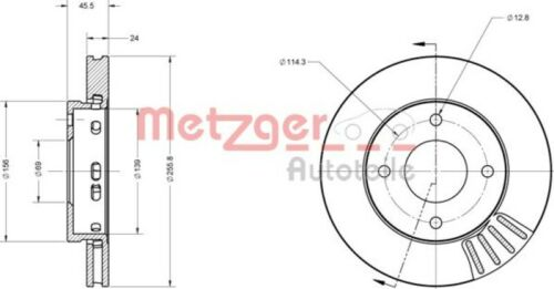 METZGER Bremsscheiben Bremsbeläge VORNE SMART FORFOUR //// MITSUBISHI
