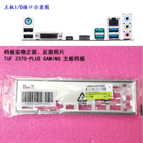 Original I//O Shield Back Plate Blende Bracket for ASUS TUF Z370-PLUS GAMING