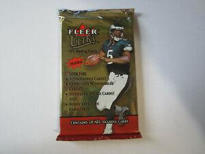 2001-Fleer-Ultra-Football-Hobby-Unopened-Pack-Drew-Brees-Rookie-Year-10-Cards