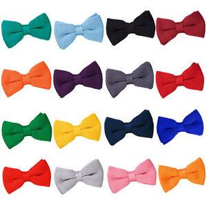 Hommes-N-ud-Papillon-Noeuds-Pre-attache-Reglable-Tricot-Multicolore-Marque-DQT