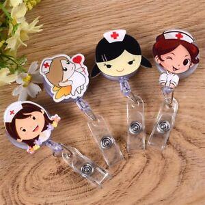 Retractable-Badge-Reel-Nurse-Exihibiton-ID-Name-Card-Badge-Holder-Cute-Clips-Hot