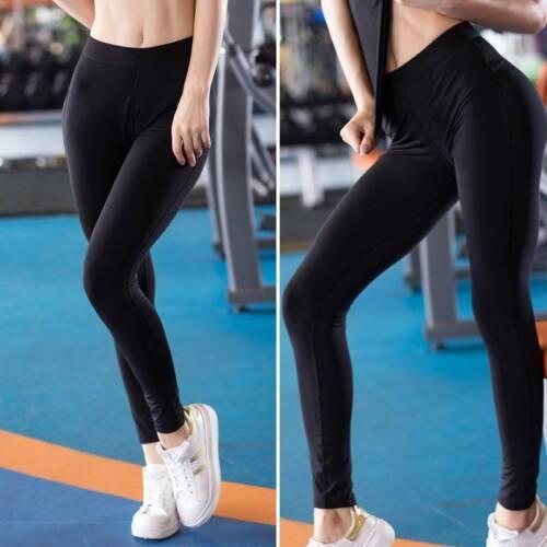 Women High Waist Gym Leggings Fitness Sport Yoga Pants Ruched Push Up Trousers U
