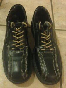 bass shoes black leather men's size 9 dress/casual