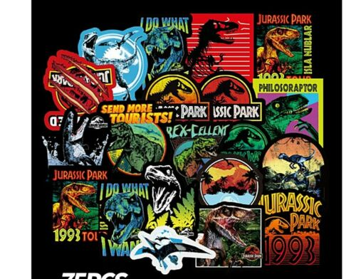 Jurassic Park Decal Vinyl Stickers Assorted Lot of 75 Pieces