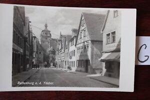 Carte Postale Vue Carte Bavière Rothenburg Tauber-afficher Le Titre D'origine Bon Pour AntipyréTique Et Sucette De La Gorge