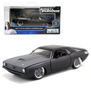 Jada-Rapido-y-Furioso-1-32-Diecast-Letty-039-s-modelo-Plymouth-Barracuda-coche-negro