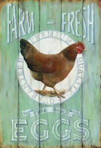 Farm-Fresh-Eggs-Motif-2-Tin-Sign-Shield-Arched-7-7-8x11-13-16in-FA0446