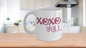 Details about  /XOXO Y/'all Funny Southern Valentine/'s Day Gift I Love You Mug