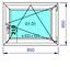miniature 17 - Finestre in PVC con 2 lastre di vetro termico larghezza: 850 mm scelta l'altezza