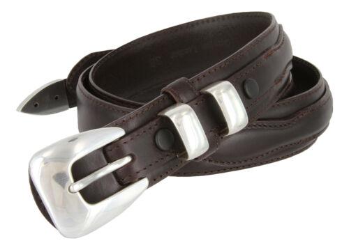 "S5354 Western Ranger Genuine Leather Jean Ranger Belt 1-3//8/"" Wide"