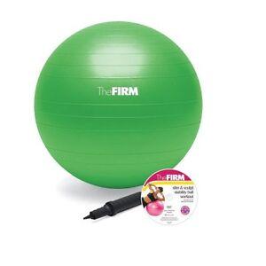 Yoga-Ball-65-cm-Air-Pump-amp-Workout-DVD-Anti-Burst-Exercise-Balance-Stability-USA